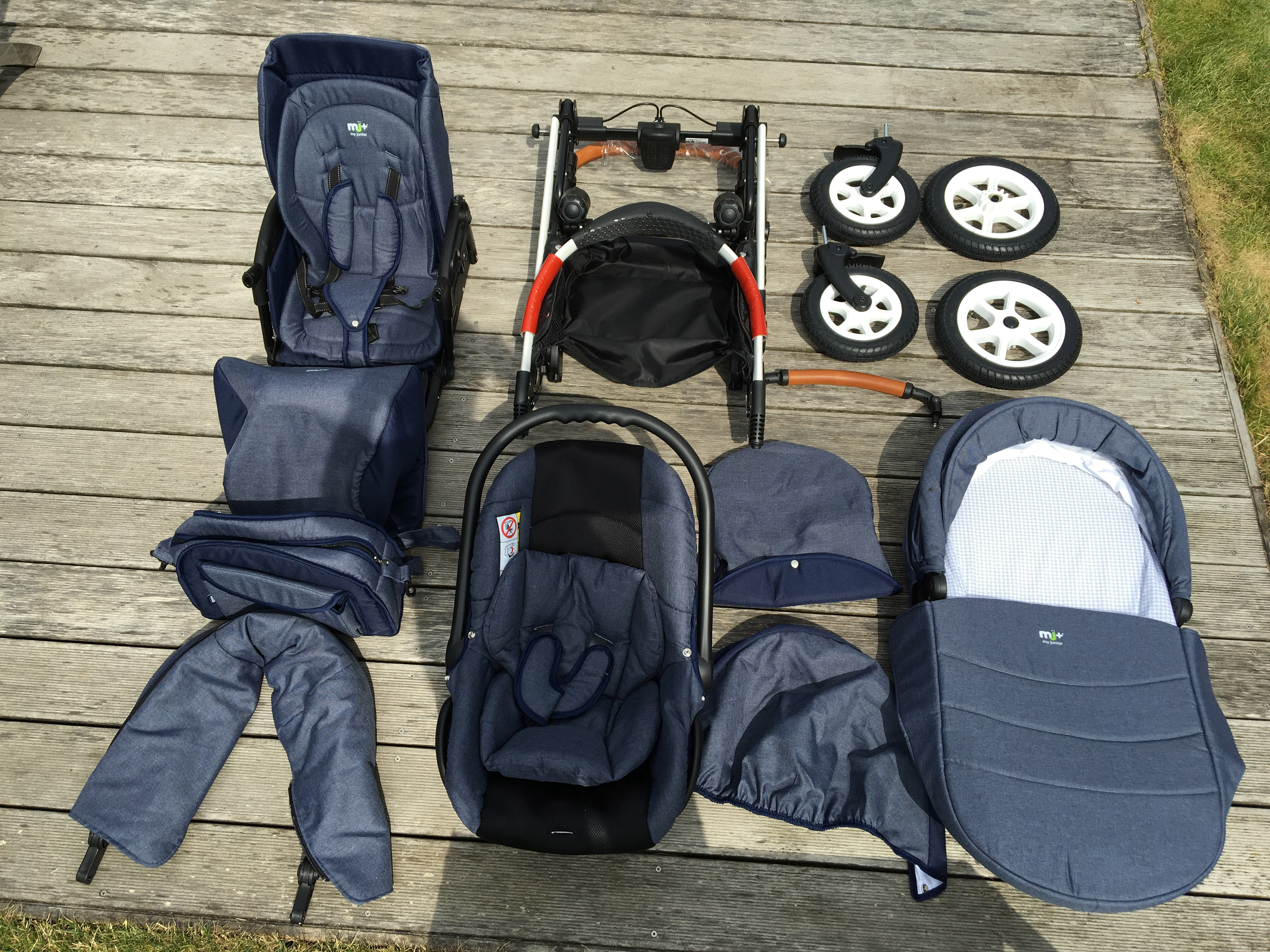 my junior miyo 3 in 1 kinderwagen. Black Bedroom Furniture Sets. Home Design Ideas